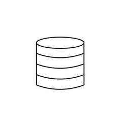 Server disks icon vector