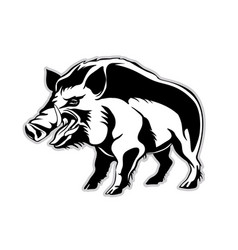 Silhouette of a wild boar a wild pig vector