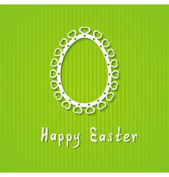 simple Easter greeting card vector image vector image