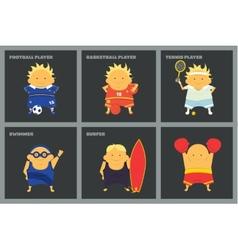 Sportsmen characters vector image vector image