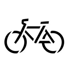 stencil bike symbol vector image vector image