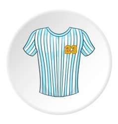 Striped baseball shirt icon cartoon style vector image vector image