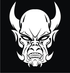 White Demon Face vector image vector image