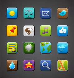 collection of apps icons vector image