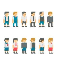 Flat design student uniform set vector