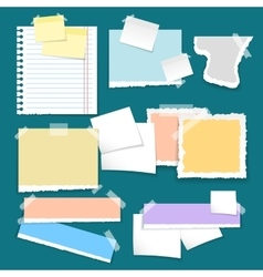 Set of different note colorful papers vector