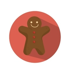 Ginger bread christmas card vector