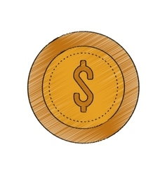 Isolated coin design vector
