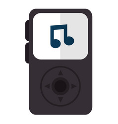 Music player mp3 isolated icon vector