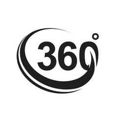360 degree black version icon vector