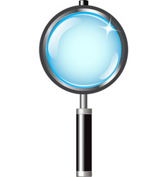 Magnifier with handle vector