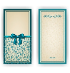 Elegant template for luxury invitation card vector