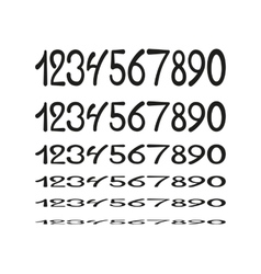 Hand drawing numbers vector