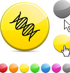 Dna glossy button vector