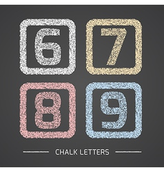 Chalk numbers set vector image