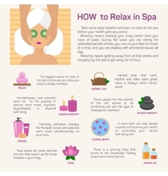 Relax in spa flat modern design vector