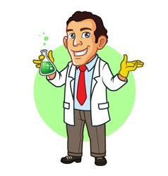 Scientist mascot vector