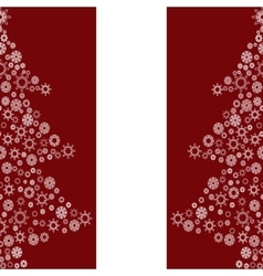 Christmas tree from snowflakes holiday seamless vector