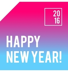 Neon bright new year design with typography vector