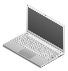 Isometric laptop isolated on white vector