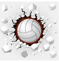 Volleyball and with wall damage vector
