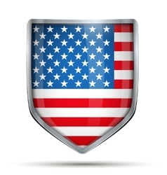 Shield with flag USA vector image