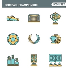 Icons line set premium quality of football vector