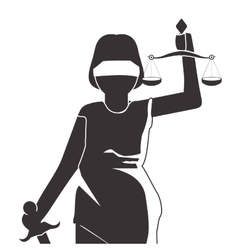 Lady justice icon vector