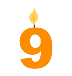 Numbers candles set vector