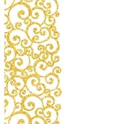 Abstract gold dust glitter swirl pattern vector