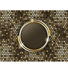 Abstract mosaic background with gold rings in the vector