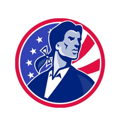 American patriot minuteman stars stripes flag vector