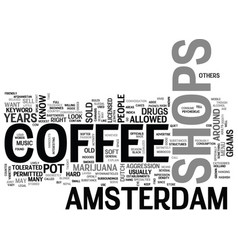 Amsterdam cheap travel guide enjoy it text word vector