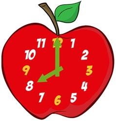 Apple Clock vector image vector image