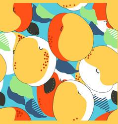Apricot fruits seamless pattern fresh apricots vector