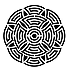 Geometric round ornament vector