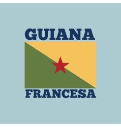 Guiana francesa country flag vector