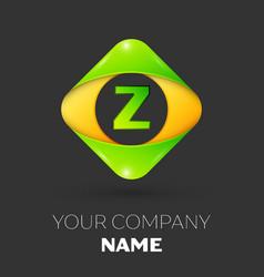 Letter z logo symbol in colorful rhombus vector