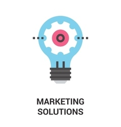 marketing solutions icon concept vector image vector image