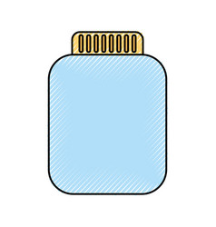 Mason jar bottle icon vector
