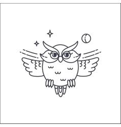 Owl liliar ilustration vector image