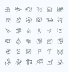 Parcel delivery service icon set vector