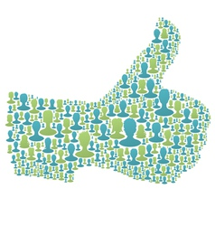 People Thumbs Up vector image vector image