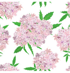 Pink flowers pattern on white background vector