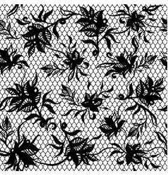 seamless pattern of black lace vector image vector image