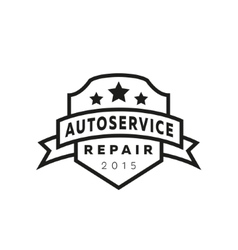 Service auto repair coat of arms shield hammer vector image vector image