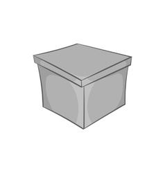 Square box icon black monochrome style vector