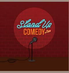 Stand up comedy open mic vector