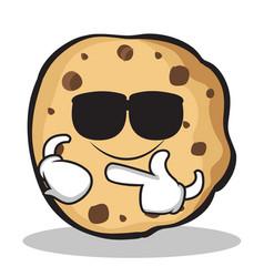 Super cool sweet cookies character cartoon vector