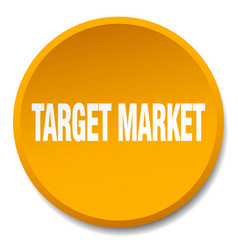 Target market orange round flat isolated push vector